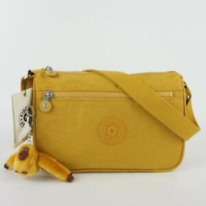 KIPLING CALLIE Nylon Handbag Shoulder Crossbody Bag Harvest Gold Tonal