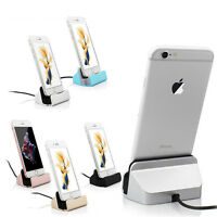 Sync Data USB Cable Charger Dock Stand Station Cradle Charging For iPhone SE 6 7