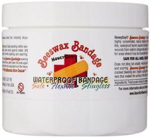 Honey Guy Waterproof Beeswax Bandage, 4 oz jar / Instantly stops minor bleeding