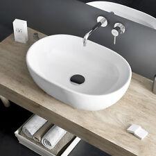 Bacinella lavabo d'appoggio in ceramica opaca 60x42 design d'arredo