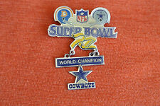 14947 PIN'S PINS FOOTBALL NFL SUPER BOWL XII COWBOYS BRONCOS - TM § NFL 1990