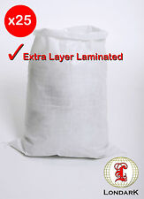 25 Woven Laminated POLYPROPYLENE Bags Sacks Small Medium Large PP Bags Sandbags
