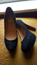 """Authentic CHRISTIAN LOUBOUTIN Suede 5"""" Heels Shoes Size 5 Euro 38"""