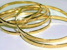 W/S LOT 6 med. Gold Bangles (2.5dmtr) Genuine 1/20 -14k gold filled bangles