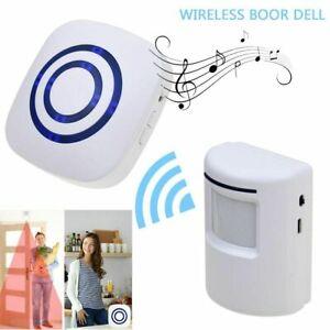 Wireless Motion Sensor Detector Gate Entry Door Bell Welcome Alert Alarm