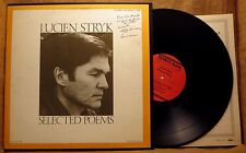 SIGNED AUTOGRAPH POETRY LP: LUCIEN STRYK, SELECTED POEMS 1982 Folkways FL 9768
