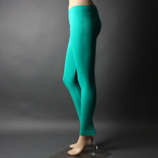 Classic Basic Plain Stretch Full Length Colored Spandex Casual Leggings Pants