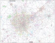 "San Antonio/Greater Bexar County Detailed Region Wall Map w/Zip Codes 48""x61"""