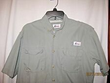 World Wide Sportsman Size Short Sleeve Casual Shirt Ventilated Back Green
