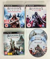 Assassin's Creed PS3 Game Bundle. II, III, Brotherhood. 3 Video Games