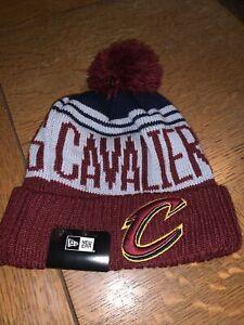 NEW New Era Knit Beanie Cleveland Cavaliers NBA Team Hat Cap LINING