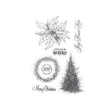 Christmas Tree Clear Stamp for Scrapbooking Transparent Stamp DIY Album Decor EV