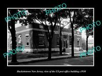 OLD LARGE HISTORIC PHOTO OF HACKETTSTOWN NEW JERSEY, POST OFFICE BUILDING c1930