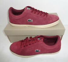 Lacoste Mens Burgundy Lerond Court Trainers Shoes Lace New RRP £68 UK Size 10