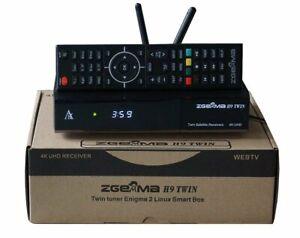 ZGEMMA H9 Twin with 2 x DVB-S2X Tuners 2 x CI 2 x WiFi Antenna E2 Linux 4K UHD