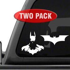 Batman Decals - Two Pack - Bat Signal Dark Knight Superhero Car Truck