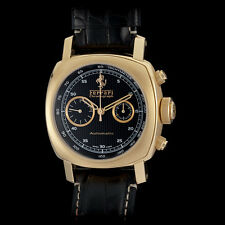 Panerai Ferrari 18K RG Granturismo Automatic Chronograph Watch. Solid 220 Grams!