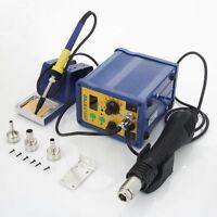 GAOYUE 878D 220V SMD Digital Hot Air Rework Station+Solder Station 3pin UK Plug