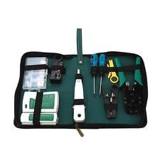 9PCS RJ45 RJ11 RJ12 Network Wire Stripper Pliers Crimper Cable Tester Tools Kit