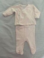 Ralph Lauren Layette Infant Girls 3 Mos pink stripes Pink Polo Logo 2 piece