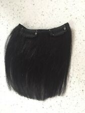"5"" Clip in Human Hair Extensions Straight Black 1Pc 4"" Wide"