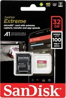 SanDisk Extreme 32GB Micro SD SDHC TF Memory Card A1 U3 Class 10 V30, 100MB/s