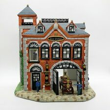 Partylite Olde World Village Tealight House #7 The Fire Station Euc Complete
