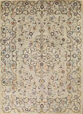 """Floral Sage Green 10x14 Signed Kashan Persian Oriental Area Rug 14' 2"""" x 10' 4"""""""