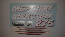 Mercury VERADO outboard decals 275 hp, complete kit  Marine Vinyl 225  250  275