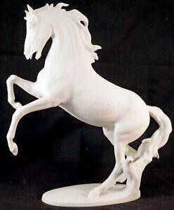 "AK Kaiser Porcelain Bisque White Horse Figurine ""METEOR"" G. Bochmann W. Germany"