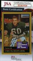 Chuck Bednarik 1991 Enor Hall Of Fame Jsa Coa Hand Signed Authentic Autograph