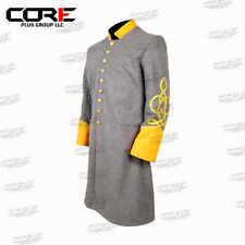 Us Civil War Confederate Officer's 3 rows Braid Single Breast Cavalry Frock Coat