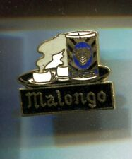 RARE PINS PIN'S .. ALIMENT FOOD CAFE COFFEE TASSE BOITE METAL BLEU MALONGO ~CR