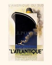 AFFICHE PAQUEBOT L'ATLANTIQUE CASSANDRE ART DECO POSTER 2 FORMATS CASS-01