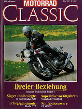 Motorrad Classic 1989 4/89 Windhoff Benelli Leoncino 125 Honda Dream C72 UT KTN