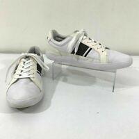 Lacoste Comfort Shoes Men Size 9 Novas CT White Leather Lace Up Low Top Sneakers