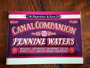 Canal Map Pearson Pennine Waters Leeds & Liverpool