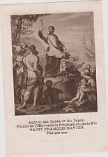 IMAGE PIEUSE HOLY CARD SANTINI/SAINT-FRANCOIS XAVIER Apôtre des Indes-du Japon