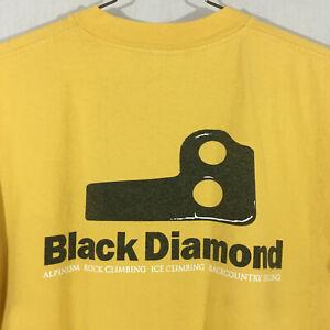 vintage Black Diamond -Knifeblade / Bugaboo Piton S/S t-shirt - Yel - M's L VGUC