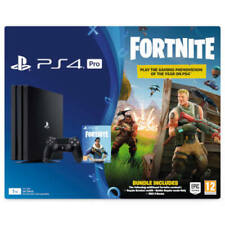 Sony Playstation 4 Grundgerät Pro 1 TB  Konsolen + Fortnite Royal - Schwarz