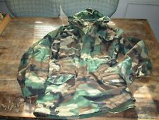 Vintage US Military Jacket Coat Cold weather field Camo small long 8090/8494
