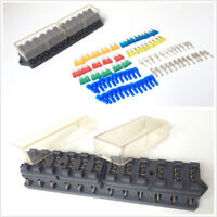 Car 12 Way Circuit Middle-sized Blade Fuse Box Block Holder w/ 25Pcs Accessories