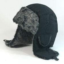 Mens Womens Winter Warm Trapper Hat Fur Lined Waterproof Russian Trapper Hat