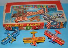 1960 VINTAGE LOT X 12 PLANE SPAD XIII AIRPLANE TIN LITHO FRICTION BOX JAPAN