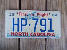 1984 North Carolina Highway Patrol License Plate HP-791 First in Flight Metal