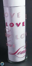 LOVE Clear Drinking Glass Slim Tumbler 12oz Red Pink