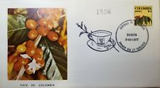 L) 1977 COLOMBIA, COFFEE FROM COLOMBIA, COFFEE BEAN, YELLOW, NATURE, FDC