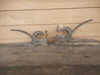 Lot of 2 Fulton & Little Giant Rivet Tool Press Machine cast iron