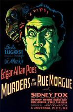 Murders in the Rue Morgue Vintage Movie Poster Lithograph Bela Lugosi S2 Art