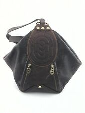 MARINO ORLANDI Made in Italy Bucket Purse Hobo Brown Croc Sling Backpack $995